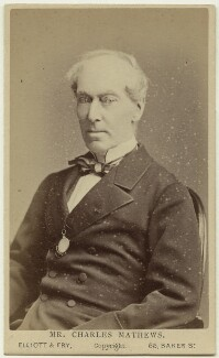 Charles James Mathews, by Elliott & Fry - NPG Ax28577