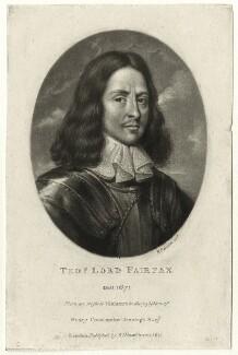 Thomas Fairfax, 3rd Lord Fairfax of Cameron, by Richard Earlom, published by  Samuel Woodburn - NPG D27111