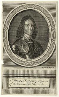Thomas Fairfax, 3rd Lord Fairfax of Cameron, by Michael Vandergucht, after  Samuel Cooper - NPG D27115