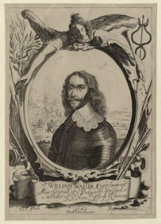 Sir William Waller, by Peter Rottermond (Rodttermondt), published by  Peter Stent, after  Cornelius Johnson (Cornelius Janssen van Ceulen) - NPG D27126