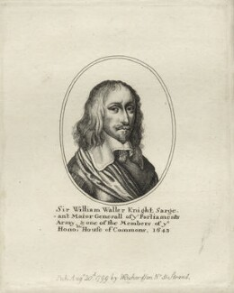 Sir William Waller, after Unknown artist, published by  William Richardson - NPG D27129