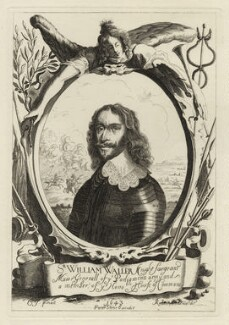 Sir William Waller, by Peter Rottermond (Rodttermondt), published by  Peter Stent, after  Cornelius Johnson (Cornelius Janssen van Ceulen) - NPG D27130