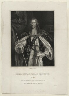 Edward Montagu, 2nd Earl of Manchester, by William Holl Sr, or by  William Holl Jr, published by  Harding & Lepard, after  Sir Peter Lely - NPG D27134