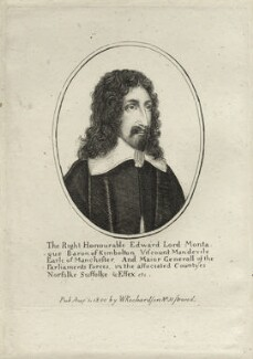 Edward Montagu, 2nd Earl of Manchester, published by William Richardson, after  Wenceslaus Hollar - NPG D27140