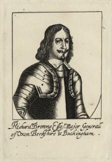 Sir Richard Browne, 1st Bt, by R.S. - NPG D27151