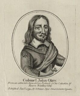 John Okey, after Unknown artist, published by  John Thane - NPG D27161