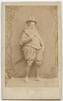 John Baldwin Buckstone as Sir Andrew Aguecheek in 'Twelfth Night', by Herbert Watkins - NPG x22082