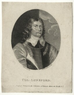 Sir Thomas Lunsford, by William Nelson Gardiner, published by  E. & S. Harding - NPG D27168