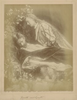 'Gareth and Lynette' (Andrew Kinsman Hichens; May Prinsep), by Julia Margaret Cameron - NPG x18033