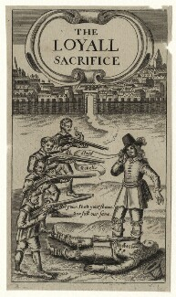 Sir Charles Lucas in the title page to ''The Loyall Scarifice'', after Unknown artist - NPG D27194