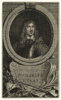 Richard Neville engraved as Sir Charles Lucas, after William Dobson - NPG D27196