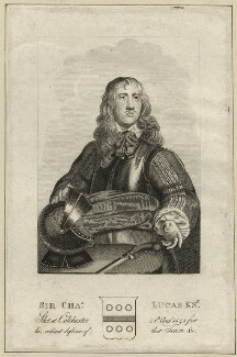 Richard Neville engraved as Sir Charles Lucas, after William Dobson - NPG D27198
