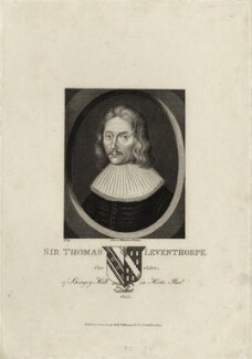Sir Thomas Leventhorpe, published by Robert Wilkinson - NPG D27200