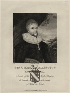 Sir Giles Alington, published by Robert Wilkinson - NPG D27202