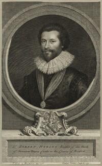 Sir Robert Harley, by George Vertue, after  Peter Oliver - NPG D27213