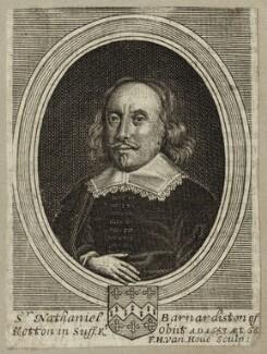 Sir Nathaniel Barnardisten, by Frederick Hendrik van Hove - NPG D27216
