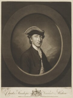 Charles Stanhope, 3rd Earl Stanhope, by Thomas Watson, published by  Walter Shropshire, after  Antoine Daniel Prud'homme - NPG D32257