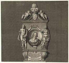 Sir Robert Ayton in his Monument at Westminster Abbey, after Francesco Fanelli, late 18th to early 19th century - NPG D27219 - © National Portrait Gallery, London