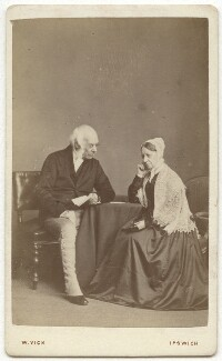 Edward Curtis May; Caroline May (née Hooper), by William Vick - NPG x21279