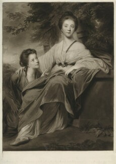 Lady Henrietta Montagu; Elizabeth Scott (née Montagu), Duchess of Buccleuch (when Lady Elizabeth Montagu), by Henry Meyer, after  Sir Joshua Reynolds - NPG D32266