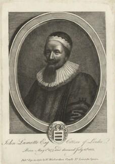 John La Motte, after William Faithorne, published by  William Richardson - NPG D27241