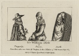 Sir William Dick, after Robert Vaughan, published by  John Thane - NPG D27246