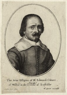 Edward Calver, by Wenceslaus Hollar, published by  Peter Stent - NPG D27248