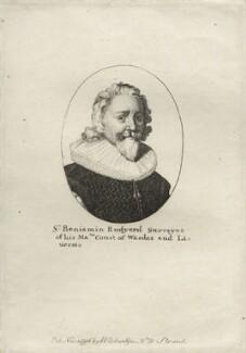 Sir Benjamin Rudyerd (Rudyard), after Wenceslaus Hollar, published by  William Richardson - NPG D27252