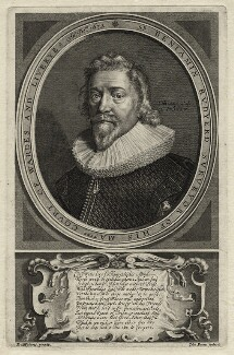 Sir Benjamin Rudyerd (Rudyard), by John Payne, after  Daniel Mytens - NPG D27253