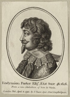 Endymion Porter, after Claude Warin, published by  John Thane - NPG D27257
