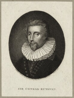 Sir Conrad Ruthven, by Cornelius Tiebout, published by  Isaac Herbert - NPG D27259