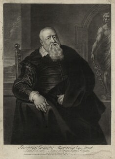 Sir Theodore Turquet de Mayerne, by John Simon, after  Sir Peter Paul Rubens - NPG D27272