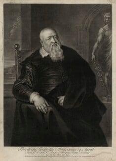 Sir Theodore Turquet de Mayerne, by John Simon, after  Sir Peter Paul Rubens - NPG D27272