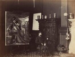 Sir Geoffroy William Millais, 4th Bt, by Rupert Potter, 11 April 1886 - NPG x131250 - © National Portrait Gallery, London