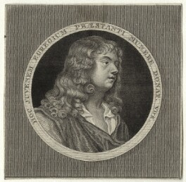 Abraham Cowley, by John Romney, after  Sir Peter Lely - NPG D27294