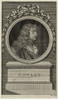Abraham Cowley, by John Hall, after  Sir Peter Lely - NPG D27295
