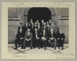 'Members of the Irish American Athletic Club, Competitors in the Olympic Games at the Franco-British Exhibition and Members of Parliament', by Benjamin Stone - NPG x131233