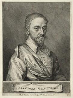 Arthur Johnston, by George Vertue, after  John Michael Rysbrack - NPG D27836