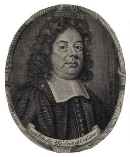 Sir Henry Pollexfen, by Robert White, after  Unknown artist - NPG D9132