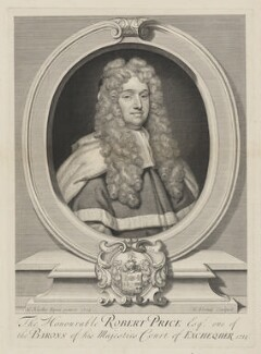 Robert Price, by George Vertue, after  Sir Godfrey Kneller, Bt - NPG D9134