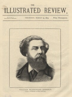 (William) Blanchard Jerrold, by William Biscombe Gardner, published by  The Illustrated Review, after  Elliott & Fry - NPG D9135