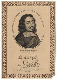 Sir Edward Walker, after Unknown artist, published by  John Thane - NPG D27860