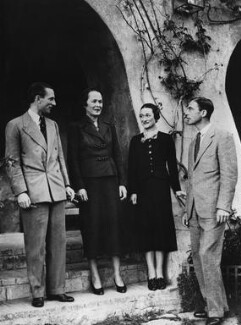 Herman Rogers; Katherine Rogers; Wallis, Duchess of Windsor; Peregrine Francis Adelbert Cust, 6th Baron Brownlow, by Daily Express - NPG x88269