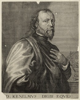 Sir Kenelm Digby, by Robert van Voerst, after  Sir Anthony van Dyck - NPG D27874