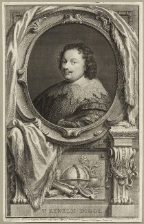 Sir Kenelm Digby, by Jacobus Houbraken, published by  John & Paul Knapton, after  Sir Anthony van Dyck - NPG D27875