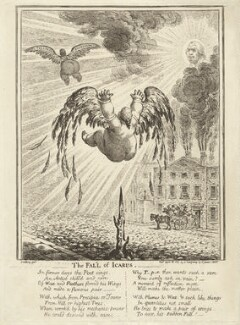 'The fall of Icarus', by James Gillray, published by  Hannah Humphrey - NPG D32279