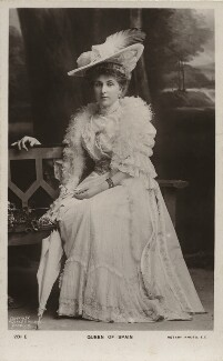 Victoria Eugenie ('Ena') of Battenberg, Queen of Spain, by Hughes & Mullins, published by  Rotary Photographic Co Ltd - NPG x74385