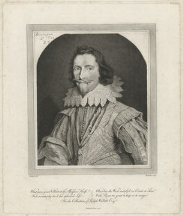 George Villiers, 1st Duke of Buckingham, by William Baillie, after  Daniel Mytens - NPG D32284