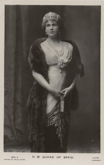 Victoria Eugenie ('Ena') of Battenberg, Queen of Spain, by Christian Franzen, published by  J. Beagles & Co - NPG x8749