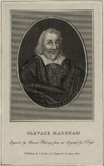 Gervase Markham, by Burnet Reading, published by  Thomas Rodd the Elder, after  Thomas Cross - NPG D27913